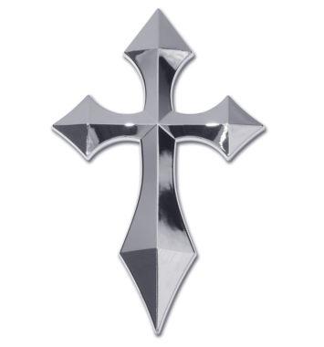 Pointed Cross Chrome Emblem