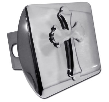 Scalloped Cross Emblem on Chrome Hitch Cover image