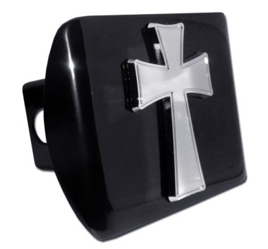 Tapered Cross Emblem on Black Hitch Cover image