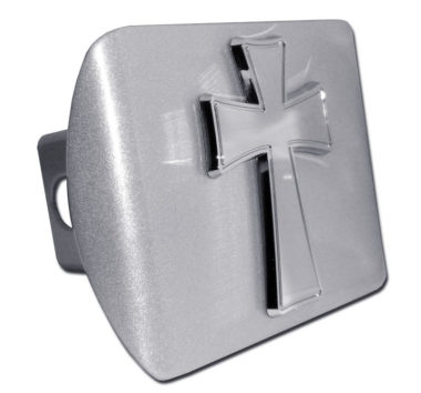 Tapered Cross Emblem on Brushed Hitch Cover image