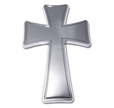 Tapered Cross Chrome Emblem