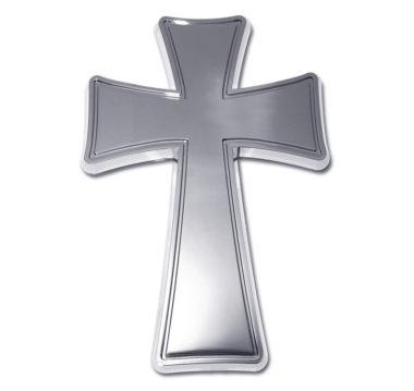 Tapered Cross Chrome Emblem image