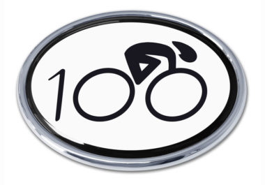 Cycling 100 Chrome Emblem