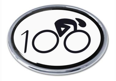 Cycling 100 Chrome Emblem
