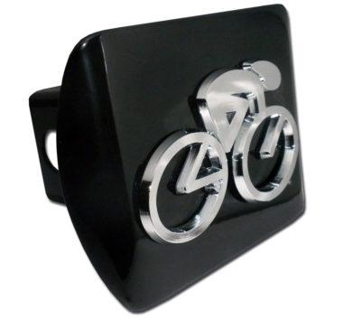 Cycling Emblem on Black Hitch Cover