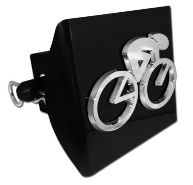 Cycling Emblem on Black Plastic Hitch Cover