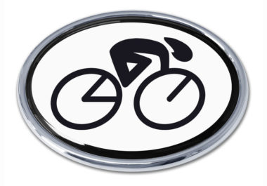 Cycling Oval Chrome Emblem image