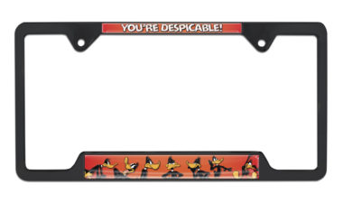 Daffy Duck Open Black License Plate Frame