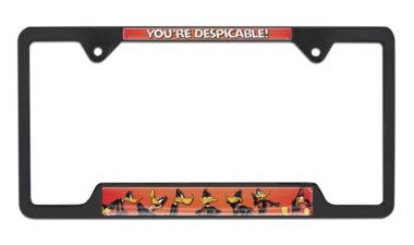 Daffy Duck Open Black License Plate Frame