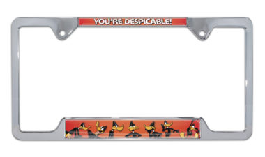 Daffy Duck Open Chrome License Plate Frame