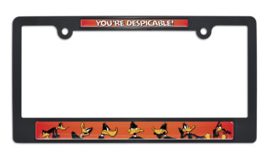 Daffy Duck Black License Plate Frame