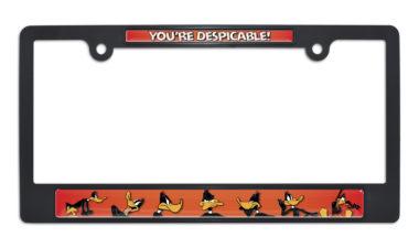 Daffy Duck Black License Plate Frame