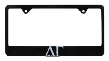 Delta Gamma Black License Plate Frame