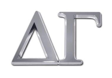Delta Gamma Chrome Emblem