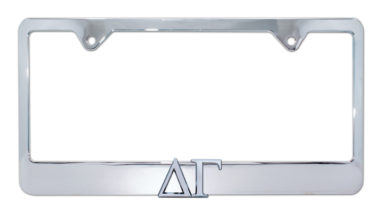 Delta Gamma Chrome License Plate Frame