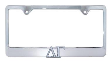Delta Gamma Chrome License Plate Frame