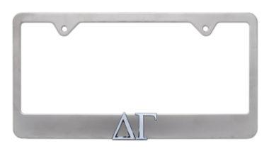 Delta Gamma Matte License Plate Frame