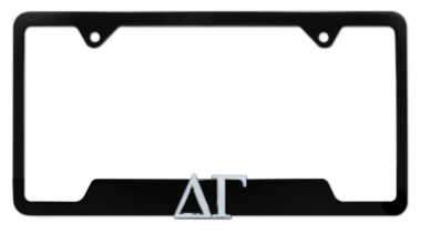 Delta Gamma Sorority Black Open License Plate Frame