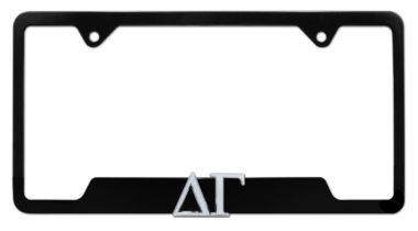 Delta Gamma Sorority Black Open License Plate Frame