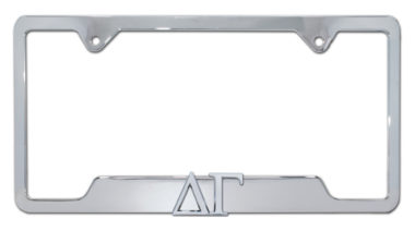 Delta Gamma Sorority Chrome Open License Plate Frame