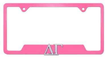 Delta Gamma Sorority Pink Open License Plate Frame