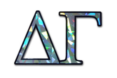 Delta Gamma Reflective Decal