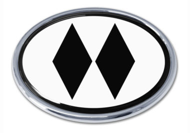 Black Diamond White Chrome Emblem