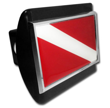 Dive Flag Emblem on Black Hitch Cover