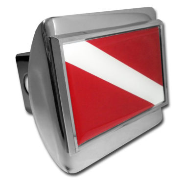 Dive Flag Emblem on Chrome Hitch Cover