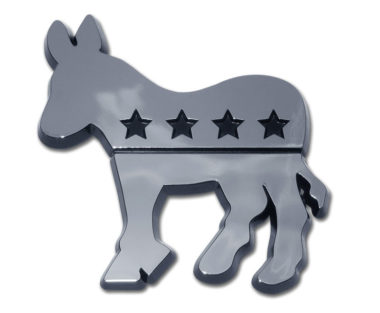 Democratic Chrome Emblem