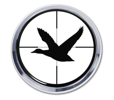 Duck Target Chrome Emblem