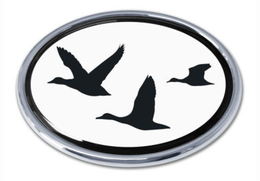 Duck Hunting Chrome Emblem image