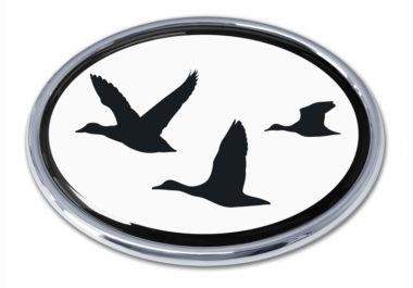 Duck Hunting Chrome Emblem