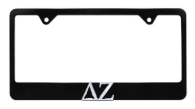 DZ Black License Plate Frame