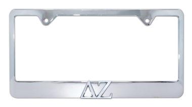 DZ Chrome License Plate Frame image