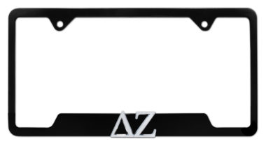 DZ Sorority Black Open License Plate Frame