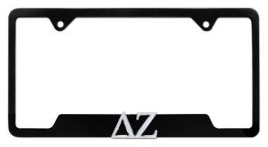 DZ Sorority Black Open License Plate Frame image
