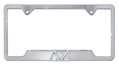 DZ Sorority Chrome Open License Plate Frame