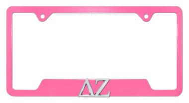 DZ Sorority Pink Open License Plate Frame