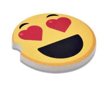 Emoji Heart Eyes Car Coaster - 2 Pack
