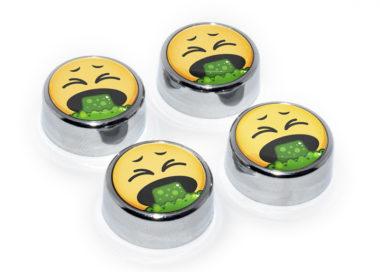Emoji Puke License Plate Frame Screws