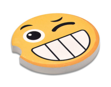 Emoji Wink Car Coaster - 2 Pack