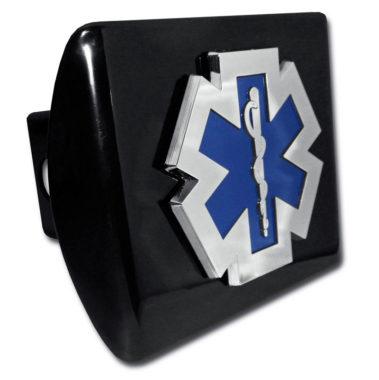 EMS Emblem on Black Hitch Cover