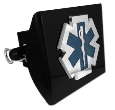 EMS Emblem on Black Plastic Hitch Cover