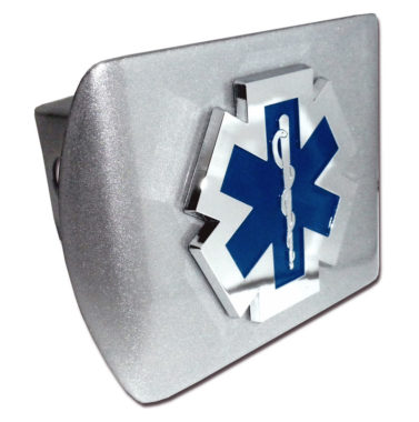 EMS Emblem on Brushed Hitch Cover
