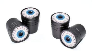 Eyeball Valve Stem Caps - Black