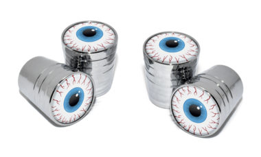 Eyeball Valve Stem Caps - Chrome