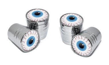 Eyeball Valve Stem Caps - Chrome