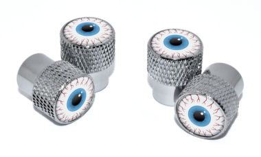 Eyeball Valve Stem Caps - Chrome Knurling