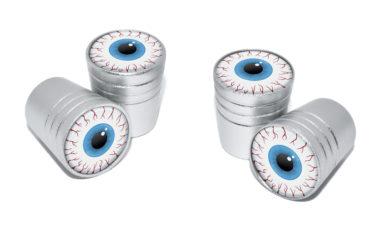 Eyeball Valve Stem Caps - Matte Chrome